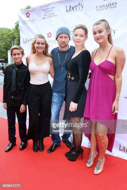 Singer Corey Hart and family attend Canada's Walk Of Fame Presents Music Under The City Stars at Casa Loma on August 2 2017 in Toronto Canada