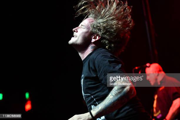 Singer Corey Taylor of Slipknot and Stone Sour performs onstage during DIMEBASH 2019 at The Observatory on January 24 2019 in Santa Ana California