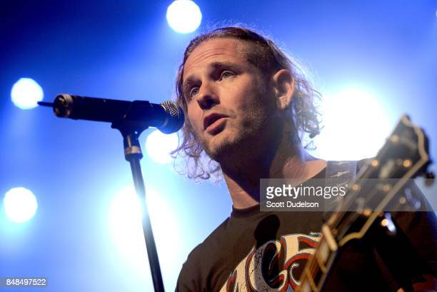 Singer Corey Taylor of Stone Sour and Slipknot performs onstage during the second annual Rock for Recovery benefit concert at The Fonda Theatre on...