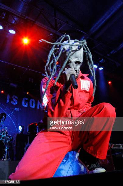 Singer Corey Taylor of the band Slipknot performs live during a concert at the Columbiahalle on June 21 2011 in Berlin Germany