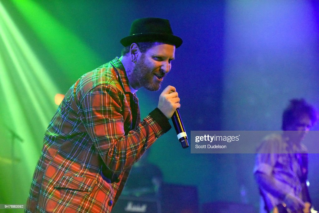 Singer Corey Taylor Of The Bands Slipknot And Stone Sour Performs