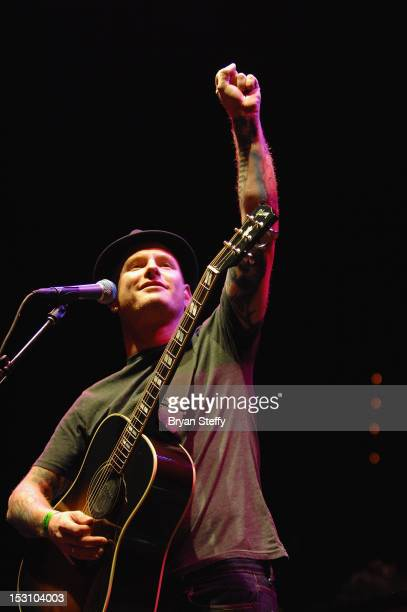 Singer Corey Taylor performs at the Rock Vegas Music Festival at the Mandalay Bay Resort Casino on September 29 2012 in Las Vegas Nevada