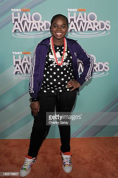Singer Cori Broadus arrives at the Nickelodeon's 2011 TeenNick HALO Awards held at the Hollywood Palladium on October 26 2011 in Hollywood California...