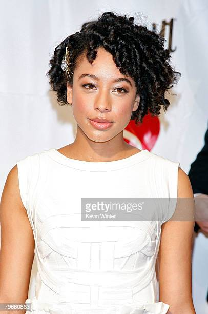Singer Corinne Bailey Rae arrives at the 2008 MusiCares person of the year honoring Aretha Franklin held at the Los Angeles Convention Center on...