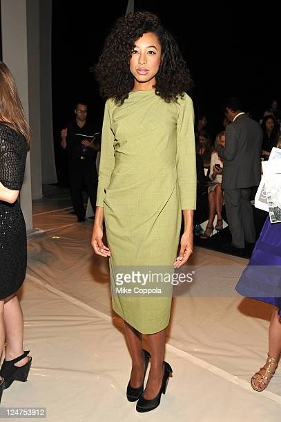 Singer Corinne Bailey Rae attends the Carolina Herrera Spring 2012 fashion show during MercedesBenz Fashion Week at The Theater at Lincoln Center on...