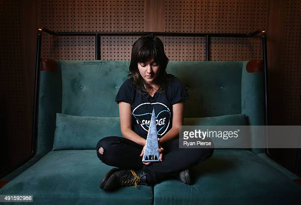 Singer Courtney Barnett poses at the 29th Annual ARIA Nominations Event on October 7 2015 in Sydney Australia