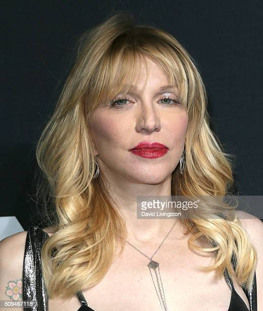 Singer Courtney Love attends Saint Laurent at Hollywood Palladium on February 10 2016 in Los Angeles California