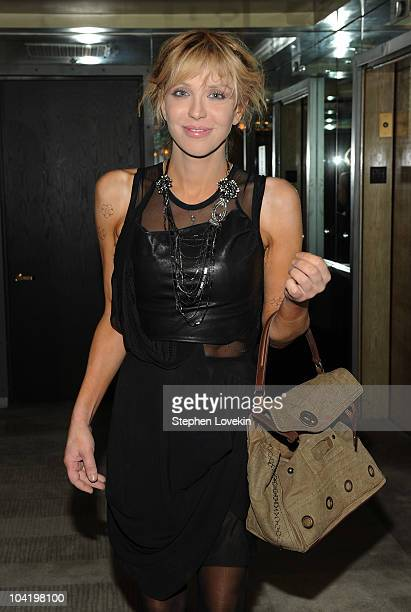 Singer Courtney Love attends the after party following a special screening of Buried hosted by The Cinema Society and 2ist at the Soho Grand Hotel on...