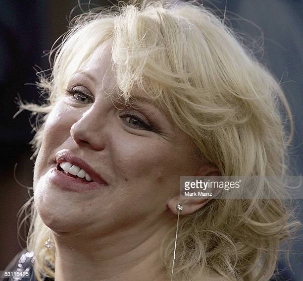 Singer Courtney Love attends the Lions Gate premiere of Rize at the Egyptian Theatre on June 21 2005 in Los Angeles California