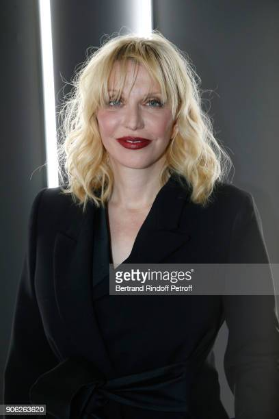 Singer Courtney Love attends the YSL Beauty Hotel event during Paris Fashion Week Menswear Fall/Winter 20182019 on January 17 2018 in Paris France
