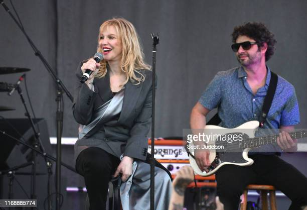 Singer Courtney Love of the band Hole performs onstage during the Yola Dia Fest at Los Angeles Historical Park on August 18 2019 in Los Angeles...