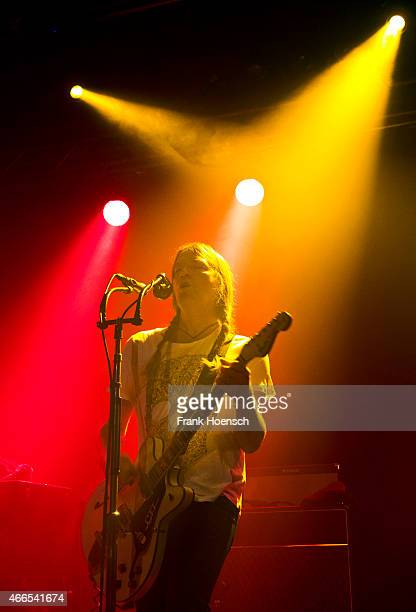 Singer Courtney TaylorTaylor of the American band The Dandy Warhols performs live during a concert at the Postbahnhof on March 16 2015 in Berlin...