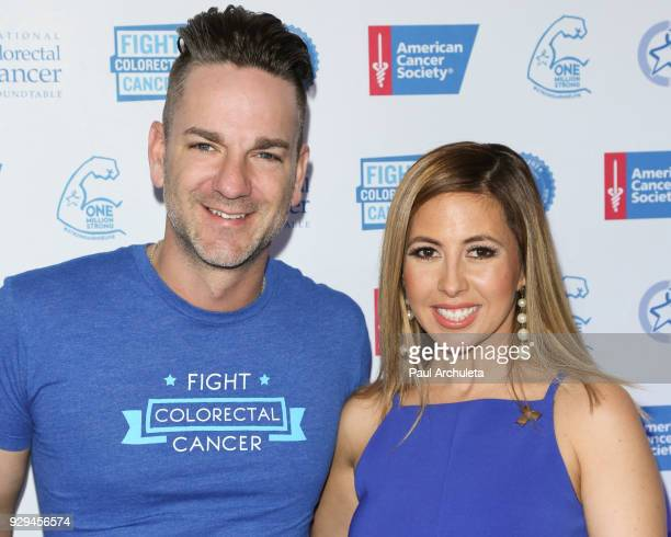 Singer Craig Campbell and TV Personality Stephanie Himonidis attend The American Cancer Society 'Fight Colorectal Cancer' and The National Colorectal...