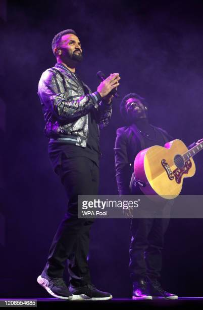 Singer Craig David performs on stage at the Prince's Trust And TK Maxx Homesense Awards at London Palladium on March 11 2020 in London England
