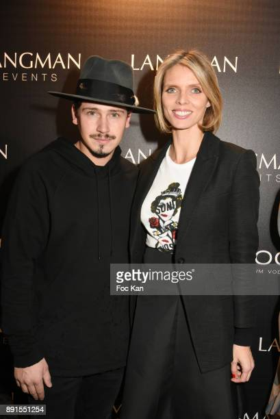 Singer Cris Cab and Sylvie Tellier from Miss France Comitee attend the Star Wars Party at Le Saint Fiacre on December 12 2017 in Paris France