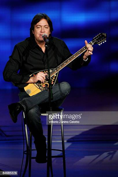 Singer Cristiano De Andre performs at Che Tempo Che Fa TV Show held at RAI Studios on February 7 2009 in Milan Italy