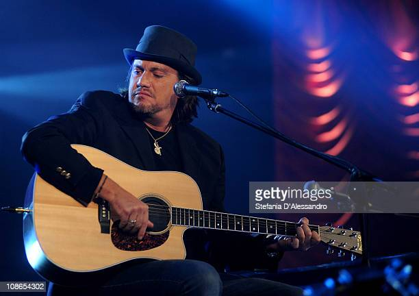 Singer Cristiano De Andre' performs live during RadioItaliaLive held at Radio Italia Studios on January 31 2011 in Milan Italy