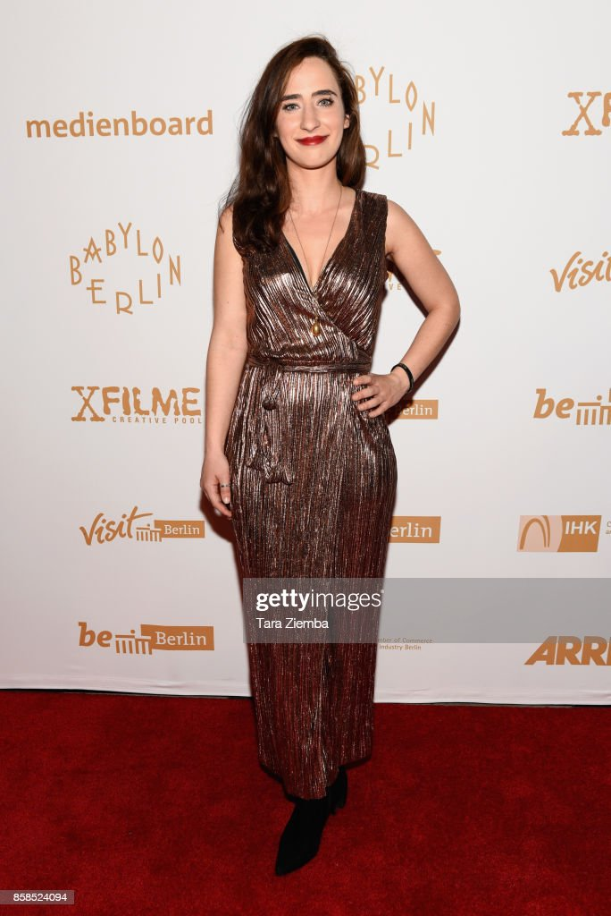 Singer Cristina Russo attends the premiere of Beta Film's 'Babylon Berlin' at The Theatre at Ace Hotel on October 6, 2017 in Los Angeles, California.