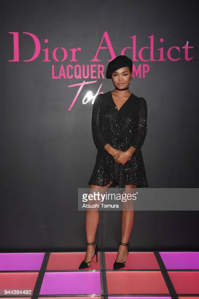 Singer Crystal Kay attends the Dior Addict Lacquer Plump Party at 1 OAK on April 10 2018 in Tokyo Japan