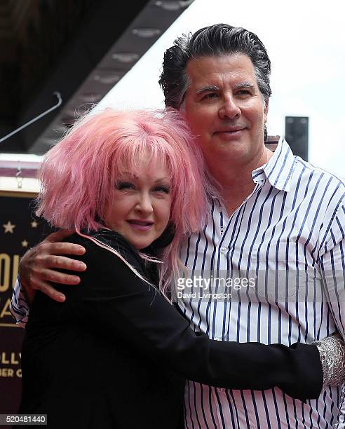 cyndi lauper and husband stock photos and pictures getty. Black Bedroom Furniture Sets. Home Design Ideas