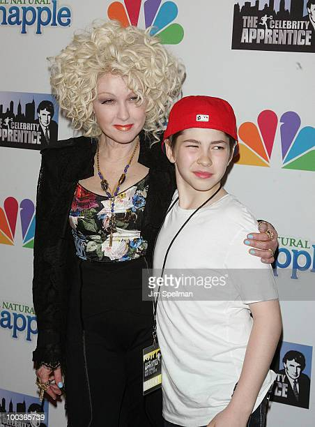 Singer Cyndi Lauper and son attend The Celebrity Apprentice Season 3 finale after party at the Trump SoHo on May 23 2010 in New York City