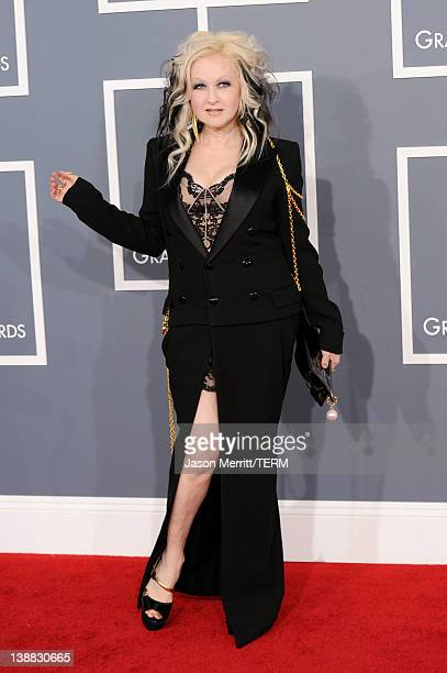 Singer Cyndi Lauper arrives at the 54th Annual GRAMMY Awards held at Staples Center on February 12 2012 in Los Angeles California