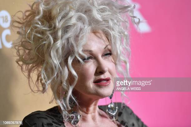 US singer Cyndi Lauper attends Billboard's 13th Annual Women In Music event at Pier 36 in New York City on on December 6 2018