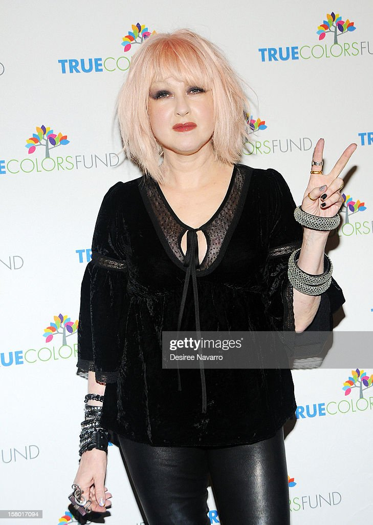 Singer Cyndi Lauper attends the 2nd annual Cyndi Lauper and Friends: Home For The Holidays at The Beacon Theatre on December 8, 2012 in New York City.