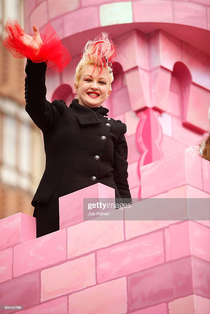 Singer Cyndi Lauper attends the 83rd annual Macy's Thanksgiving Day Parade on the streets of Manhattan on November 26, 2009 in New York City.