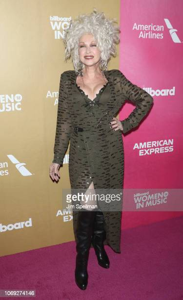 Singer Cyndi Lauper attends the Billboard's 13th Annual Women in Music event at Pier 36 on December 6 2018 in New York City