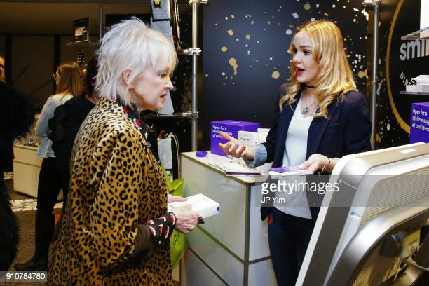 Singer Cyndi Lauper attends the GRAMMY Gift Lounge during the 60th Annual GRAMMY Awards at Madison Square Garden on January 26 2018 in New York City