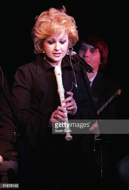Singer Cyndi Lauper performs at the VH1 Save The Music Presents Songwriters In The Round Generations 3 The Best of the 80's at the China Club...
