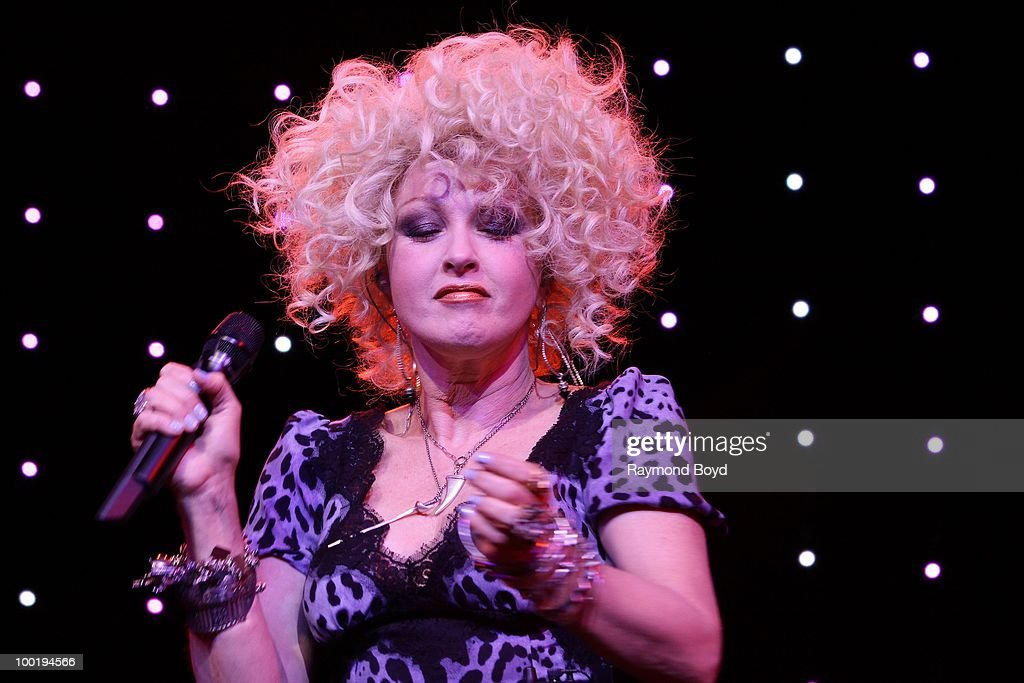 Singer Cyndi Lauper performs during the NARM Awards Dinner Finale at the NARM Convention at the Hilton Chicago Hotel in Chicago, Illinois on MAY