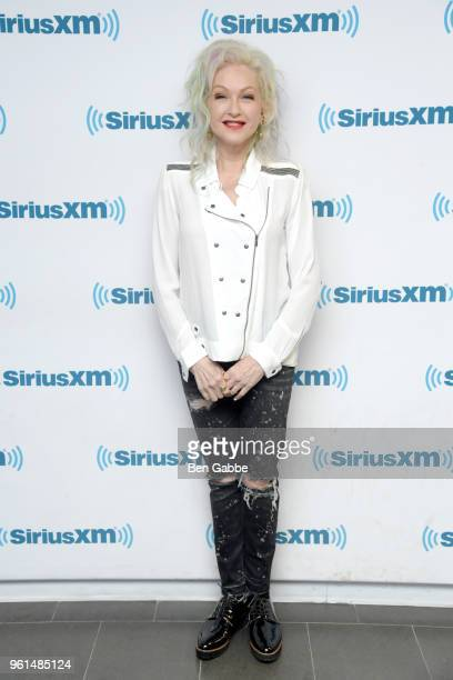 Singer Cyndi Lauper visits at SiriusXM Studios on May 22 2018 in New York City