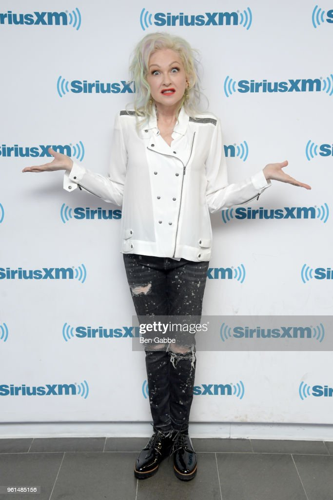 Singer Cyndi Lauper visits at SiriusXM Studios on May 22, 2018 in New York City.