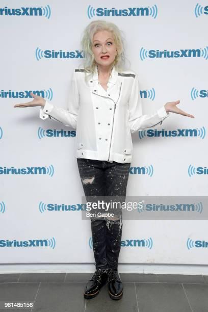 Singer Cyndi Lauper visits at SiriusXM Studios on May 22 2018 in New York City