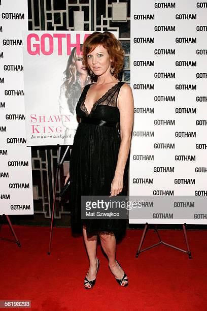 Singer Cynthia Basinet arrives at the listening party for Shawn King's new CD 'In My Own Backyard' hosted by Gotham Magazine at Lotus on November 16...