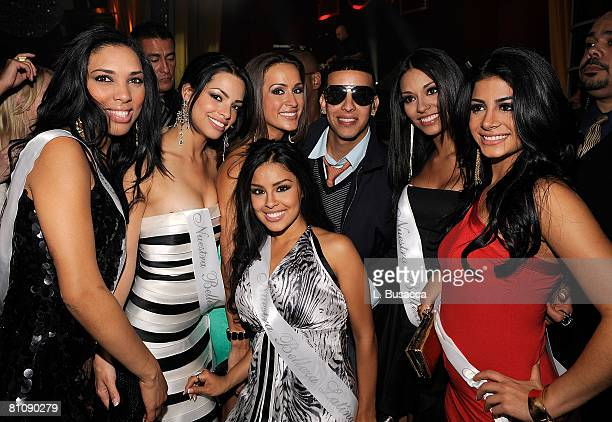 Singer Daddy Yankee and the Nuestras Bellaza Latinas attends the People en Espanol Celebrates 12th Annual 50 Most Beautiful Issue party at Mansion...