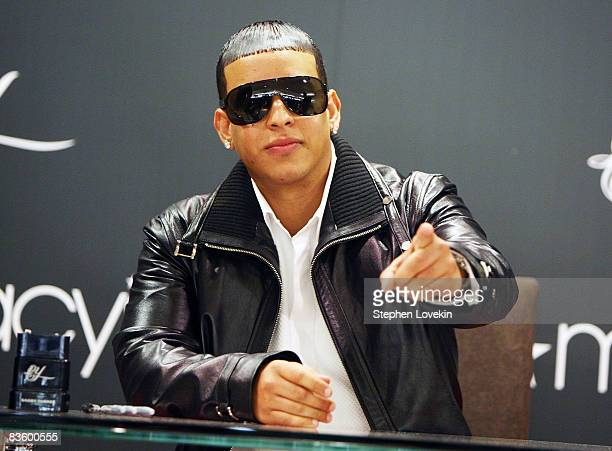 Singer Daddy Yankee attends the DY fragrance launch at Macy's Herald Square on November 7 2008 in New York City