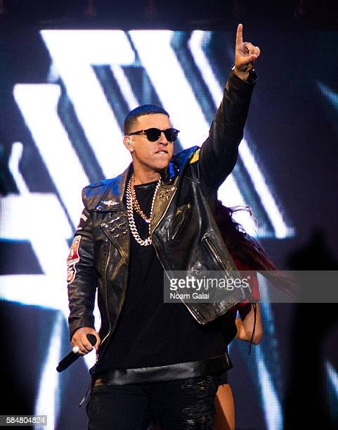 Singer Daddy Yankee performs during The Kingdom Daddy Yankee Vs Don Omar Tour at Madison Square Garden on July 30 2016 in New York City