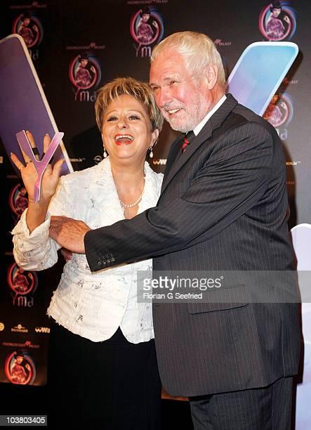 Singer Dagmar Frederic and husband Klaus Lenk attend the World Premiere of 'YMA Zu Schoen Um Wahr Zu Sein' at Friedrichstadtpalast on September 2...
