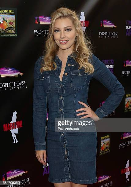 Singer Dalal Bruchmann attends the premiere of the new musical 'MARILYN' at The Alex Theatre on July 29 2016 in Glendale California