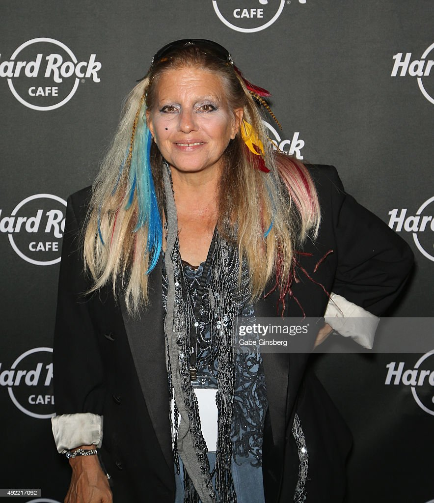 Singer Dale Bozzio of Missing Persons attends Hard Rock Cafe Las Vegas at Hard Rock Hotel's 25th anniversary celebration on October 10, 2015 in Las Vegas, Nevada.