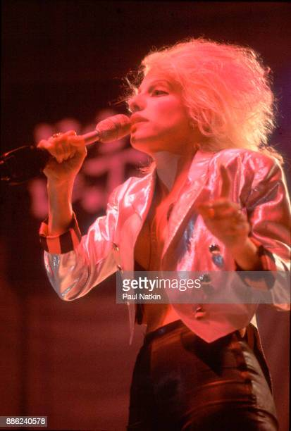 Singer Dale Bozzio of Missing Persons performing in Milwaukee Wisconsin March 15 1983