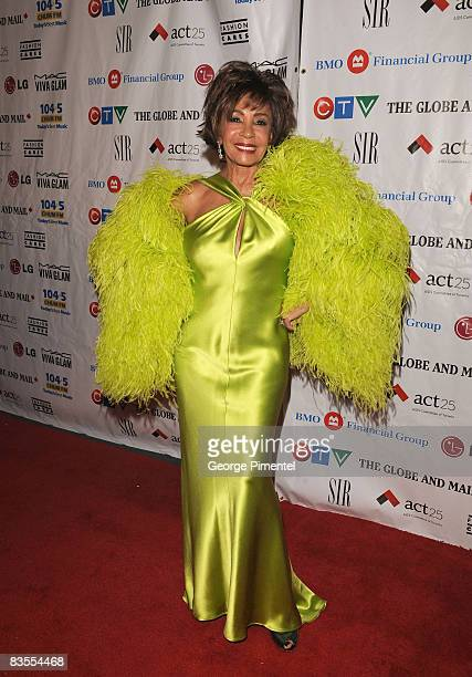 Singer Dame Shirley Bassey attend the 2008 Fashion Cares Gala at the Metro Toronto Convention Centre on November 1 2008 in Toronto Canada