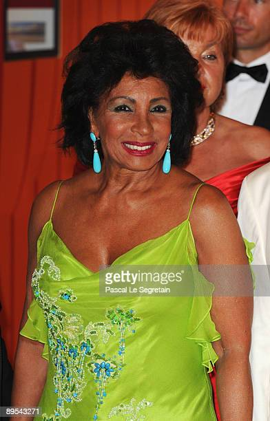 Singer Dame Shirley Bassey attends the 61st Monaco Red Cross Ball at the Monte Carlo Sporting Club on July 31 2009 in Monte Carlo Monaco