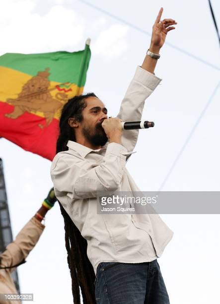 Singer Damian Marley performs during the Mile High Music Festival at Dick's Sporting Goods Park on August 14 2010 in Commerce City Colorado