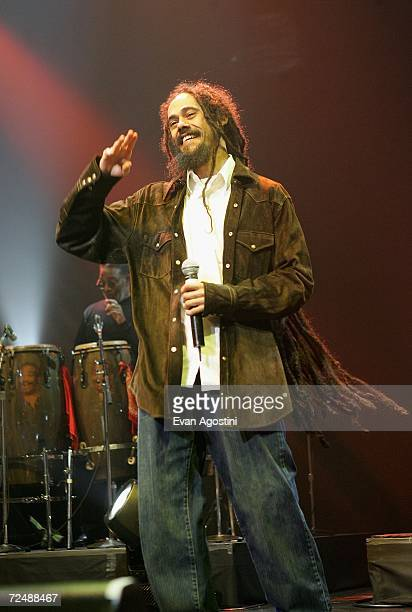 Singer Damien Marley performs onstage at The Black Ball presented by Conde Nast Media Group and hosted by Alicia Keys and Iman to benefit Keep A...