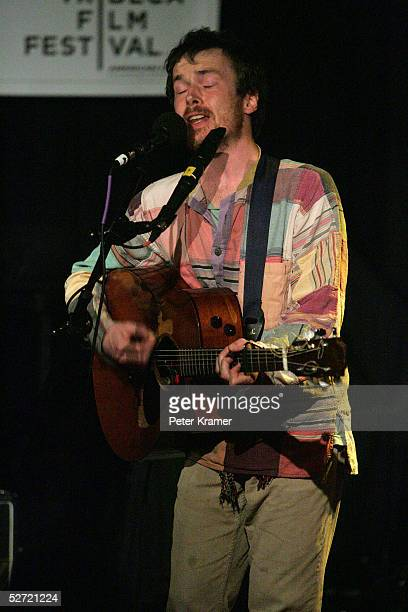 Singer Damien Rice performs during the Tribeca Film Festival ASCAP Music Lounge. The ASCAP Music Lounge is dedicated to showcasing the exceptional...