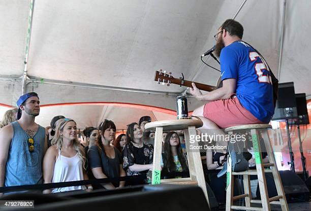Singer Dan Campbell of Aaron West The Roaring 20's performs onstage at Seaside Park on June 21 2015 in Ventura California